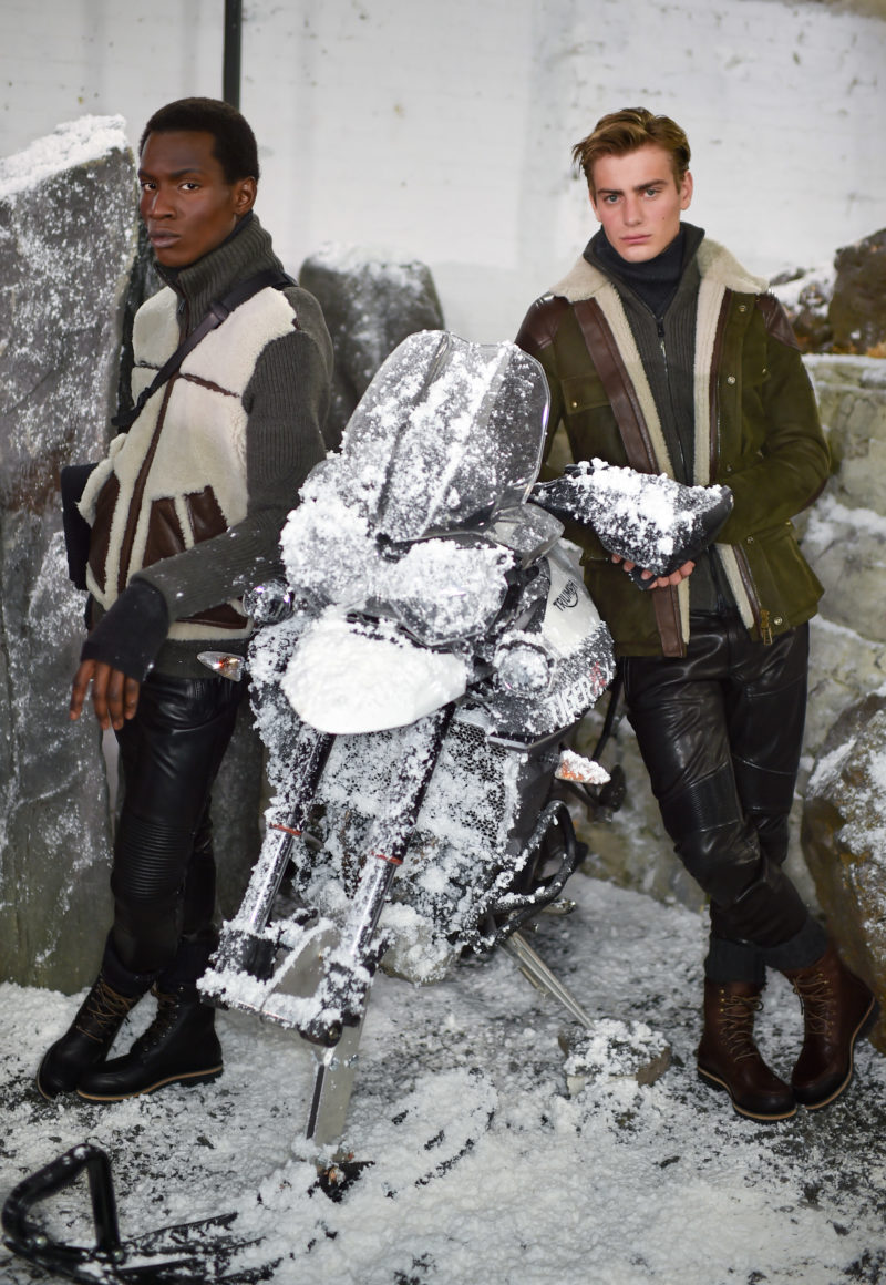 Models showcasing Belstaff 'Heading North' Winter 2016 Menswear Collection